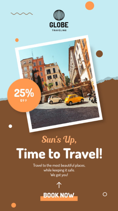 Instagram Story Template with a Travel Agency Discount Offer 4247d-el1