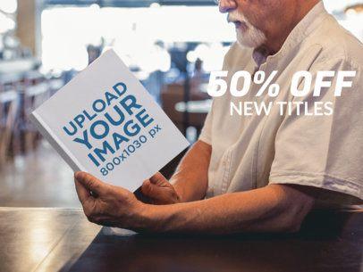 eBook Ads - Elder Man Reading a Book a16574
