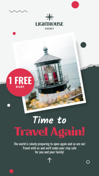 Instagram Story Maker for a Travel Agency with a Free Night Offer 4247b-el1