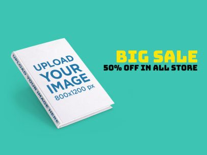 eBook Ads - Angled Hard Cover Book a16563