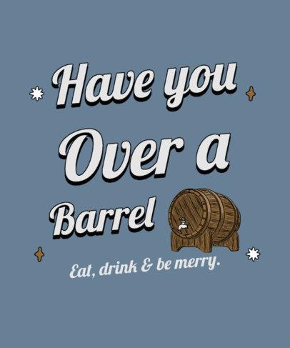 T-Shirt Design Template Featuring a Beer Barrel Graphic 4225d-el1