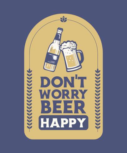 T-Shirt Design Maker Featuring Beer Quotes in Plaque Graphics 4233-el1