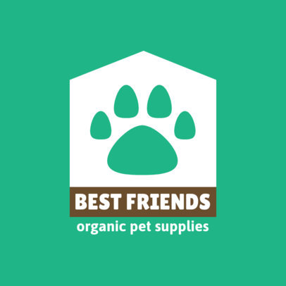 Organic Pet Supplies Store Logo Maker Featuring a Paw Icon 4239c-el1