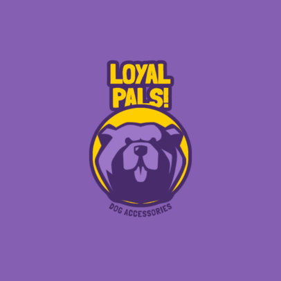 Logo Maker for a Pet Accessories Store with a Smiling Dog 4241f-el1