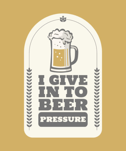 T-Shirt Design Generator with a Beer Jar Graphic and a Quote 4233b-el1