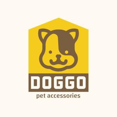 Pet Accessories Store Logo Maker Featuring a Smiling Puppy 4239e-el1