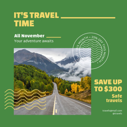 Travel-Themed Instagram Post Template With a Special Sale 4253b-el1