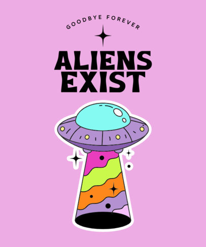 Aliens-Themed T-Shirt Design Maker With Sticker-Like Graphics 3904d