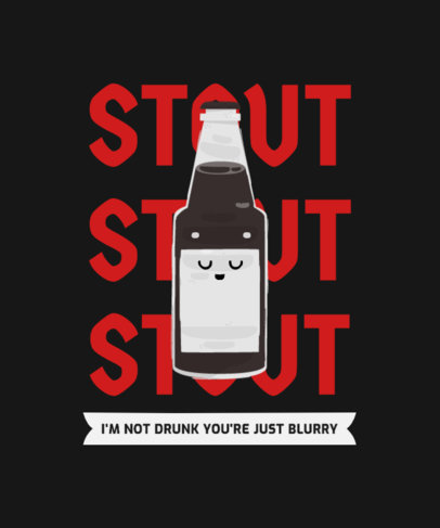 T-Shirt Design Template with a Stout Beer Character Graphic 4229a-el1