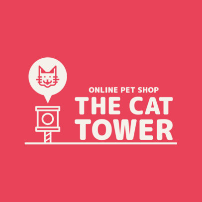 Logo Generator for a Pet Store With a Cat Icon 4237D-el1