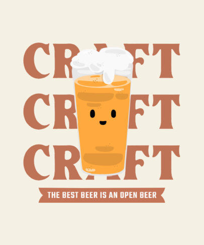 T-Shirt Design Generator Featuring a Happy Crafted Beer 4229b-el1