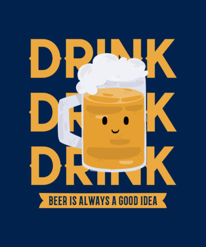 T-Shirt Design Creator with a Smiling Beer Jar 4229c-el1