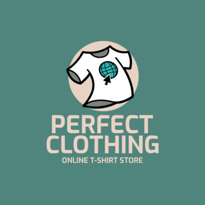 Logo Maker for T-Shirt Sellers Featuring a Simple Layout 4522n