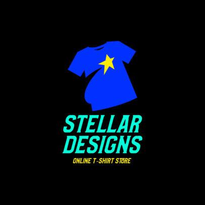 Simple Logo Generator for a T-Shirt Seller's Website 4522s