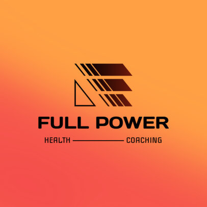 Futuristic Logo Creator for a Fitness Coaching Brand 4528f