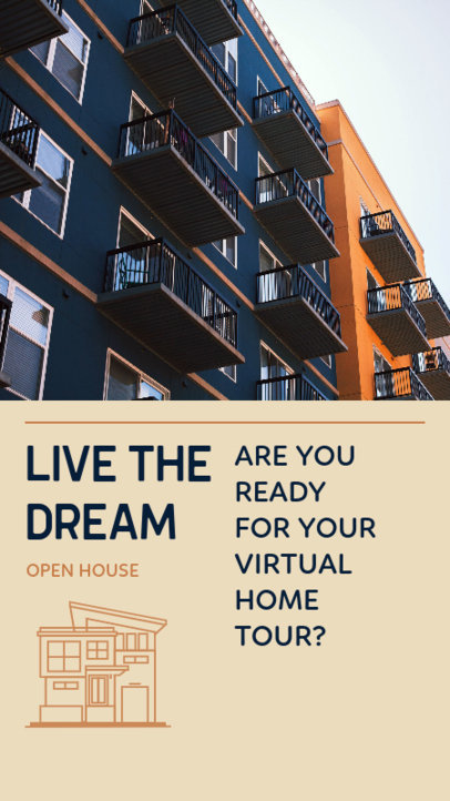 Real Estate-Themed Instagram Story Template to Announce a Virtual Home Tour Real Estate-Themed Instagram Story Template to Announce a Virtual Home Tour 3905i