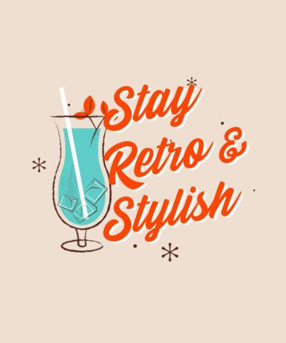 Retro T-Shirt Design Maker Featuring Cocktail Graphics 4269-el1