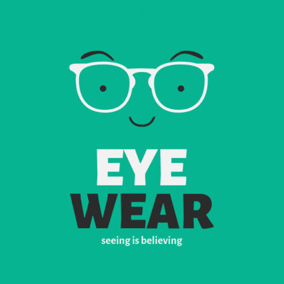Optometrist Logo Generator Featuring Glasses Frames 4261a-el1