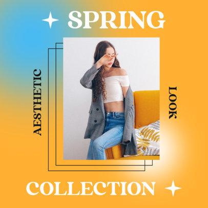 Instagram Post Design Generator for a Spring Fashion Collection Announcement 4289e-el1