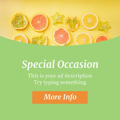 Online Banner Maker - Title Above Subtitle and Button a16616