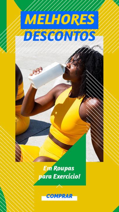 Fitness-Themed Instagram Story Design Maker Featuring a Semana do Brasil Theme 3936b