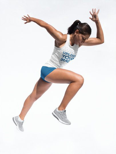Track and Field Uniforms - Muscular Woman Sprinting a16765
