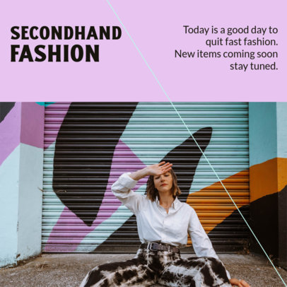Instagram Post Design Maker for a Carousel About Sustainable Fashion 4295d-el1