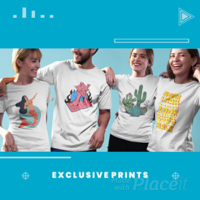 Instagram Post Video Template for a Print on Demand Business Ad 1534e 3839