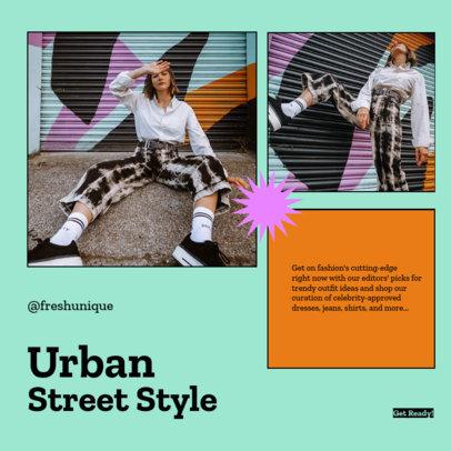 Minimalistic Instagram Post Creator for an Urban Clothing Brand-Themed Carousel 4279f-el1