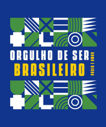 T-Shirt Design Generator Featuring a Color Palette Inspired by the Brazilian Flag 3953b