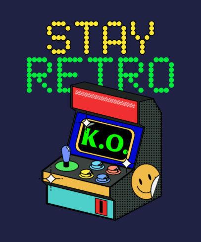 T-Shirt Design Maker Featuring an 8-bit-Style Retro Arcade Machine 3938a