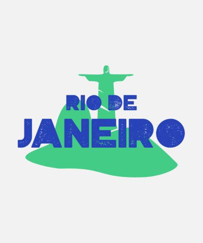 T-Shirt Design Maker Featuring a Brazil's Christ the Redeemer Graphic 3954a