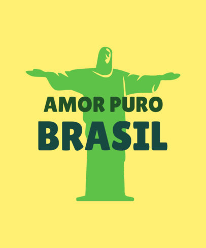 T-Shirt Design Generator Featuring a Customizable Quote for Proud Brazilians 3954b