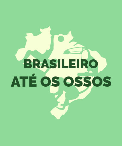 T-Shirt Design Creator Featuring a Map of Brazil Graphic 3954j