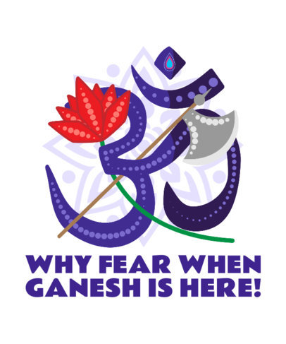 Illustrated T-Shirt Design Generator to Celebrate Ganesh Chaturthi 3947b