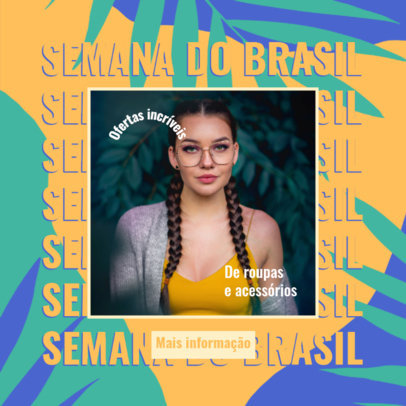 Ad Banner Maker for a Clothing Brand Featuring a Semana do Brasil Theme 3936b