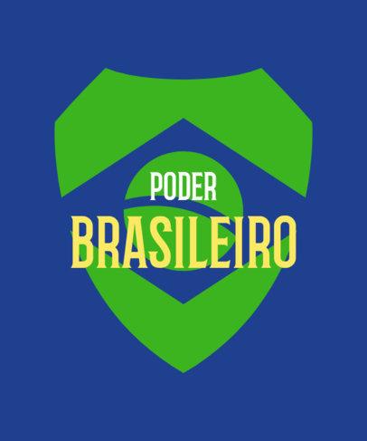 T-Shirt Design Creator with a Brazilian's Flag Emblem 3954f