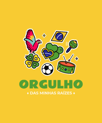 T-Shirt Design Creator with a Patriotic Brazilian Theme 3951e
