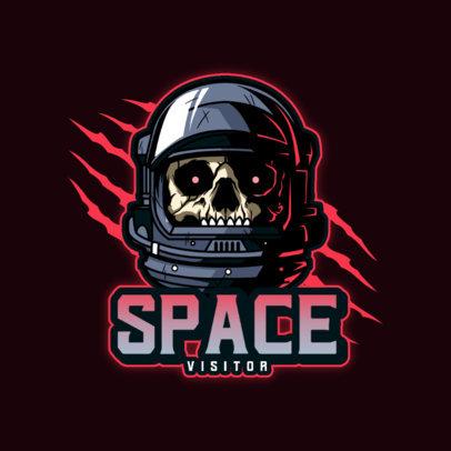 Gaming Logo Maker Featuring Skulls in Astronaut Helmets 4563