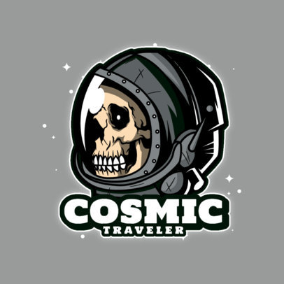 Gaming Logo Maker Featuring a Skull in Space 4563E