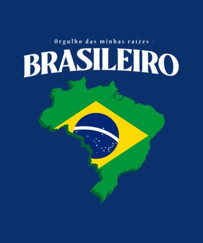 Patriotic T-Shirt Design Generator Featuring a Brazilian Flag Graphic 3952b