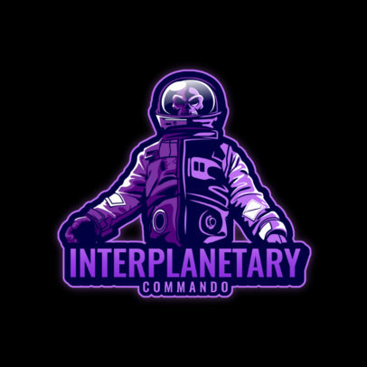 Space-Themed Logo Maker for Gamers With an Undead Astronaut Graphic 4564d