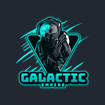 Gaming Logo Maker With an Astronaut Graphic and a Horror Theme 4564e