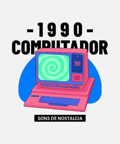 T-Shirt Design Maker Featuring a 90's Computer 3937e