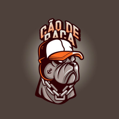 Logo Maker for a Streetwear Brand With a Bulldog Graphic 4578