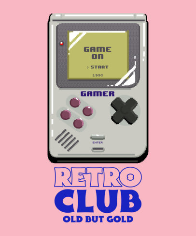 T-Shirt Design Maker Featuring Illustrated Retro Gaming Gadgets 3984