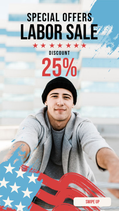 Instagram Story Template for an Apparel Shop's Labor Day Discount 4320a-el1