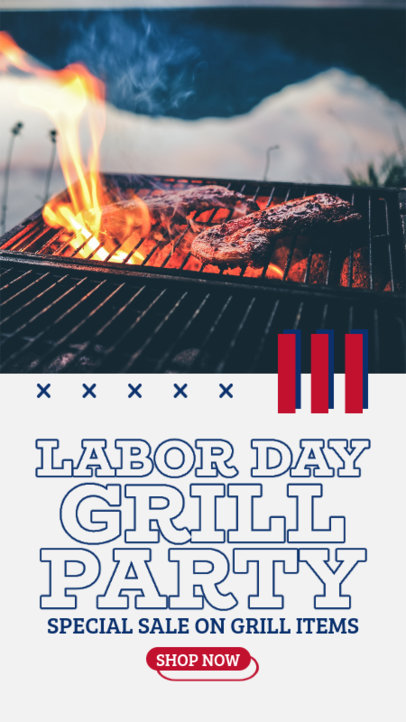 Instagram Story Maker for a Grill Store's Labor Day Sale 4322a-el1