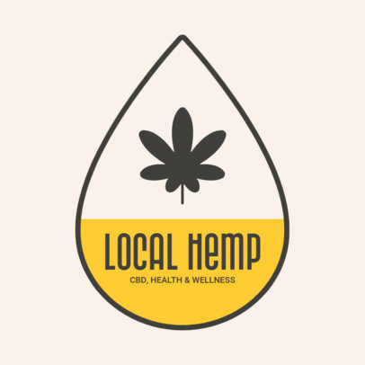 Logo Template for CBD Products Featuring Cannabis Leaf Icons 4310-el1