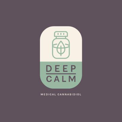 Logo Maker for a Calming CBD Products Shop 4308e-el1